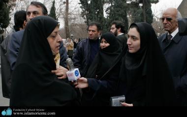 Exvicepresidente de Irán - La mujer musulman y su rol político