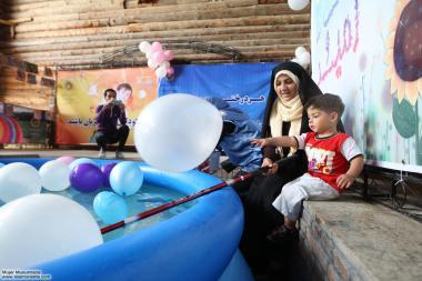 Mujer musulmana y familia