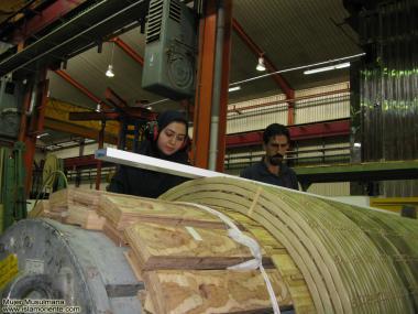 Mujer musulmana trabajadora