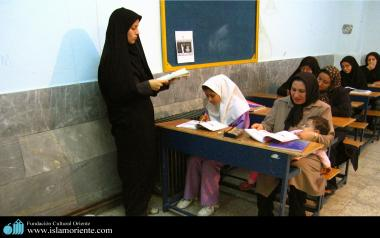 The Muslim woman active in education