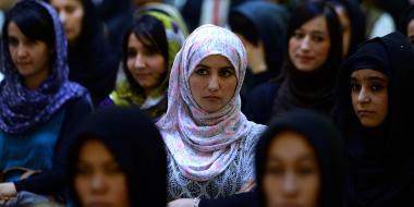 Mulheres árabes e afegãs durante uma celebração