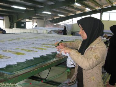 Работа мусульманских женщин - Лёгкая промышленность