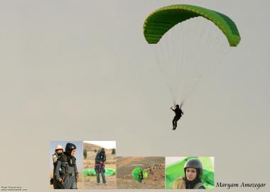 Mujeres musulmanes practicando paracaidismo - 157