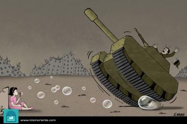 No a la guerra (Caricatura)
