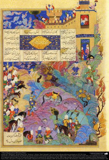 Obras-primas da miniatura persa - Extraído do épico Shahnameh do grande poeta iraniano Ferdowsi, edição Shah Tahmasbi - 22