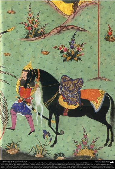 Meisterstücke der persischen Miniatur, entnommen von Shahname vom größten, iranischen Peoten Ferdowsi - Shah Tahmasbi Edition - 13 - Islamische Kunst