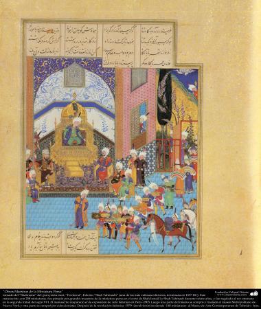 Meisterstücke der persischen Miniatur, entnommen von Shahname vom größten, iranischen Peoten Ferdowsi - Shah Tahmasbi Edition - 31 - Islamische Kunst