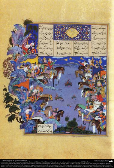 Meisterstücke der persischen Miniatur, entnommen von Shahname vom größten, iranischen Peoten Ferdowsi - Shah Tahmasbi Edition - 19 - Islamische Kunst