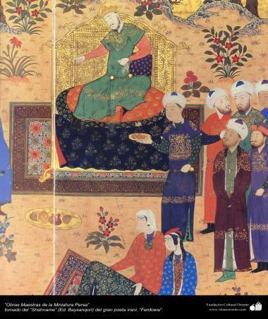 Obras-primas da miniatura persa  - extraído do épico Persa Shahname obra do grande poeta Ferdowsi (Ed. Baysanqiri) - 1