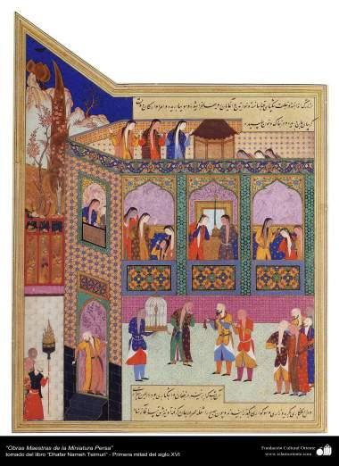 Obras-primas da Miniatura Persa - extraído do livro Zafar Name Teimuri - Primeira metade do século XVI - 12