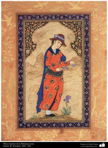 Obras-primas da miniatura persa. Artista M. Honarkar 2001 Irã - 2