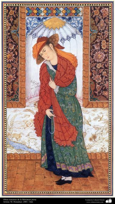 Arte islamica-Capolavoro di miniatura persiana-Opera di maestro Honarchar,2001-8