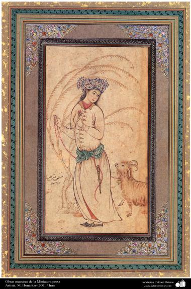 Obras maestras de  Miniatura persa- Artista M. Honarkar en 2001 (9)