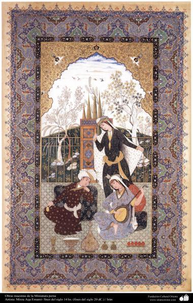 هنر اسلامی - شاهکار مینیاتور فارسی - استاد میرزا آقا امامی  - 7