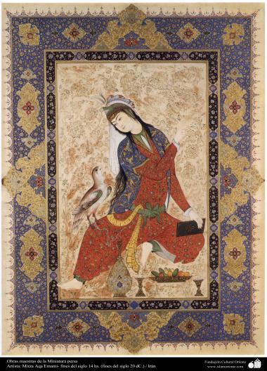 الفن الإسلامي - تحفة من المنمنمة الفارسية - أستاذ ميرزا آقا إمامي - 1
