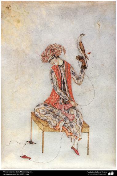 الفن الإسلامي – تحفة من المنمنمة الفارسية – فنان: شخص المجهول - 2