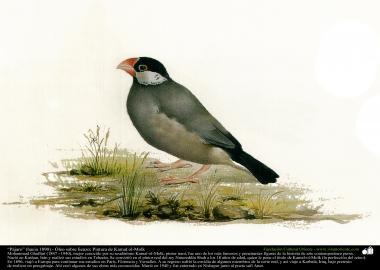 """Pássaro"" (1890) - Óleo sobre tela; Pintura de Kamal ol-Molk"
