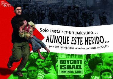 Basta ser um paestino...Embora esteja ferido... para que não haja mais opressão por parte de Israel.
