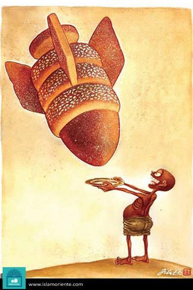 Pan celestial para los pobres del mundo (caricatura)