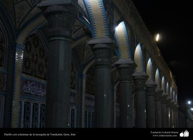 Hall with columns Yamkan mosque in the holy city of Qom