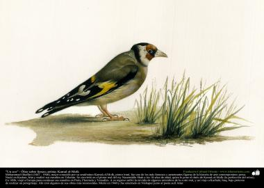 "Painting ""A bird"" - Oil on canvas - Artist Kamal ol-Molk (12)"
