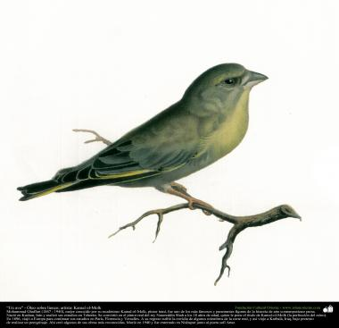 "Painting ""A bird"" - Oil on canvas - Artist: Kamal-ol-Molk (9)"