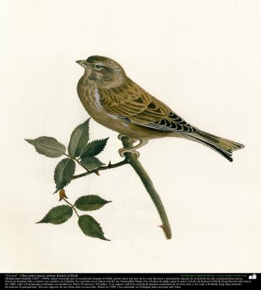 "Painting ""A bird"" - Oil on canvas - Artist : Kamal ol-Molk(16)"