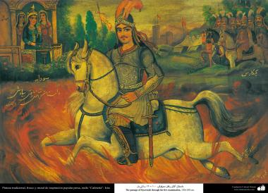 """Pintura tradicional, fresco y mural de inspiración popular persa, estilo """"Cafetería""""- Irán (42)"""