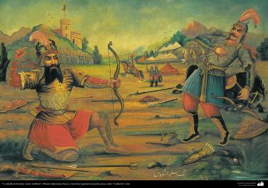 """Pintura tradicional, fresco y mural de inspiración popular persa, estilo """"Cafetería""""- Irán (43)"""