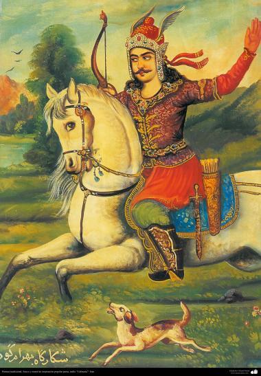 Pintura tradicional, fresco y mural de inspiración popular persa, estilo Cafetería - 32