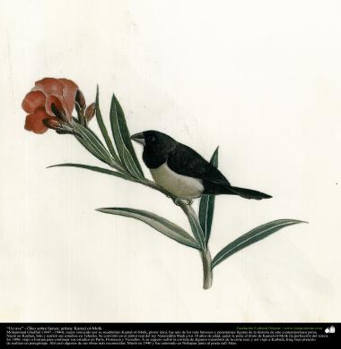 "Painting - ""A bird"" - Artist: Kamal-ol-Molk (6)"