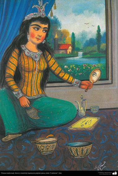 Traditional Painting, fresh and mural - popular persian inspiration - Cafe Style - 16