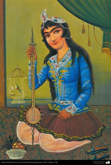 """Pintura tradicional, fresco y mural de inspiración popular persa, estilo """"Cafetería"""" - 5"""