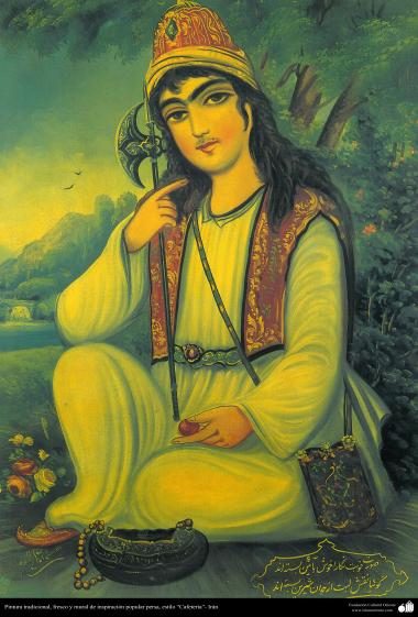 Pintura tradicional, fresco y mural de inspiración popular persa, estilo Cafetería - 22
