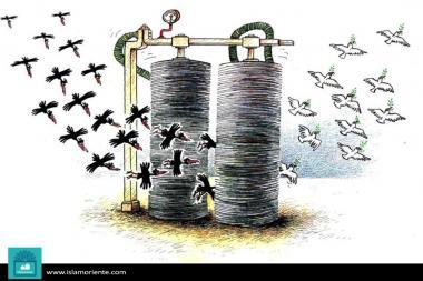 Pioneros de Paz en actualidad (caricatura)