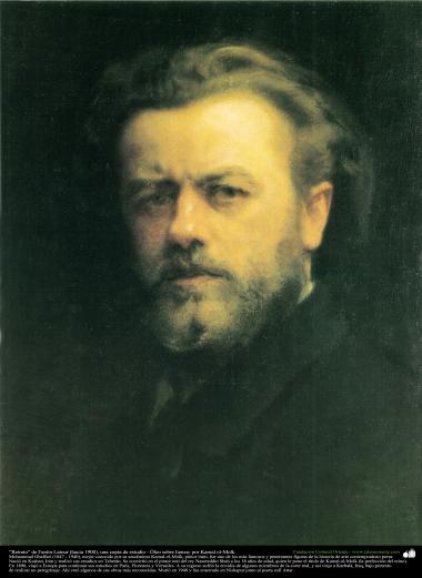 """Portrait"" of Fantin Latour (1900), a copy of studio - Oil on Canvas by Kamal ol-Molk"