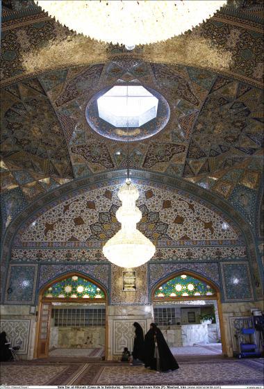 Architettura islamica-Ravaq di darol Hekmat-Vista del santuario di Imam Reza(P)-Mashhad in Iran-2