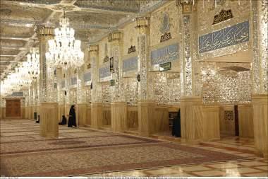 Sala Dar al-Huyyah (Casa da prova de Deus), e sua linda decoração - Santuário Imam Rida (AS) - Mashad Irã