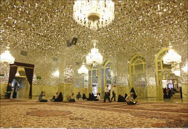 المعماریة الإسلامية - دار الزاهد - منظر من الضريح المقدس للإمام الرضا (ع) - قدس رضوي في المدينة المقدسة مشهد، إيران -  74