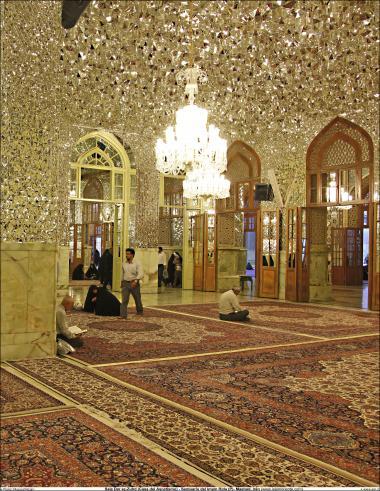 Lindo trabalho de decoração e arquitetura da Sala Dar az-Zuhd (Casa do ascetismo) Santuário do Imam Rida (AS) - Mashad Irã