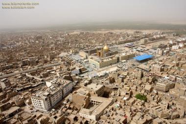Vista aérea do Santuário do Imam Ali (AS) na Sagrada Najaf, Iraque - 3