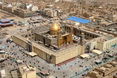 Vista aérea do Santuário do Imam Ali (AS) na Sagrada Najaf, Iraque - 2