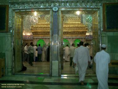 Eingang zur heiligen Schrein Imam Ali's (a.s) in Nadschaf - Irak - Foto