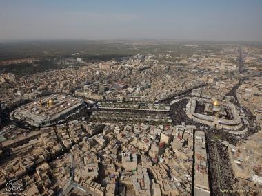 Architettura islamica-Vista del santuario di Imam Hosein e Abulfazlel Abbas-Beinol Haramein-6