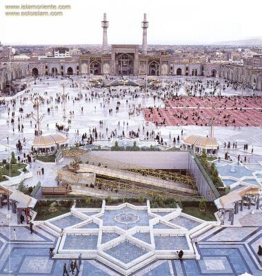 Courtyard at the entrance of Imam Reza's holy Shrine in Mashhad - Iran