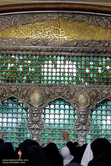 Architettura islamica-Vista del santuario di Imam Reza(P)-Mashhad in Iran-52