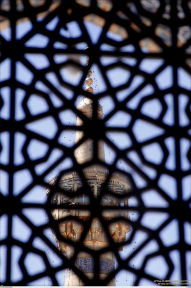 معماری اسلامی - نمایی از حرم مطهر امام رضا (ع) - قدس رضوی در شهرستان مقدس مشهد، ایران - 58