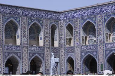 المعمارية الإسلامية - عمل البلاط الإسلامية فی ضریح الإمام رضا (ع) - مشهد - إيران - 17