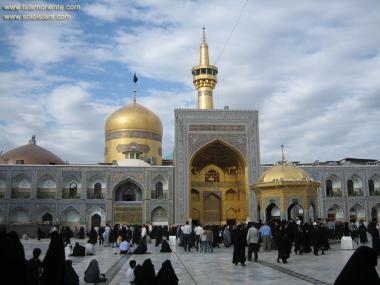 Исламское искусство - Исламская архитектура - Фасад купола и площади Разави святого храма Имама Резы (мир ему) - В городе Мешхеда , Иран - 7