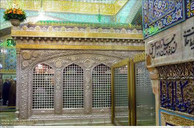 Святые места ислама – Исламская архитектура – Фасад могилы святого храма Имама Резы (мир ему) – Кудс Разави в святом городе Мешхеда , Иран - 38